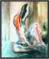Sitzende, 座っている女性, 2002, Collage, Ernst-Ulrich Jacobi