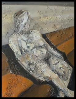 Akt 2, ヌード2, Öl auf Leinwand, Ernst-Ulrich Jacobi