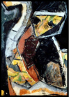 Frauenkopf, Figur, Collage, Ernst-Ulrich Jacobi