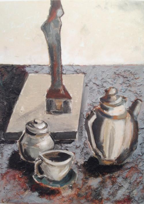 Stillleben, 静物画, 2010, Öl auf Leinwand, Ernst-Ulrich Jacobi