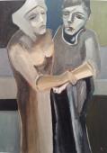 Altes Paar, 老婦人, 2010, Öl auf Leinwand, Ernst-Ulrich Jacobi