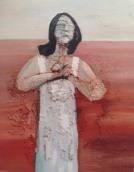 Hoffende, 希望している女性, 2010, Öl auf Leinwand, Ernst-Ulrich Jacobi