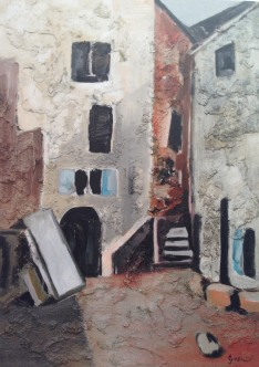 Bergort, 山村, 2009, Öl auf Leinwand, Ernst-Ulrich Jacobi
