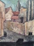 Südliche Stadt, 街の南区, 2008, Öl auf Leinwand, Ernst-Ulrich Jacobi