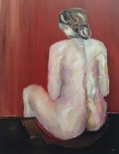 Rückenakt, 女性の背, 2012, Öl auf Leinwand, Ernst-Ulrich Jacobi