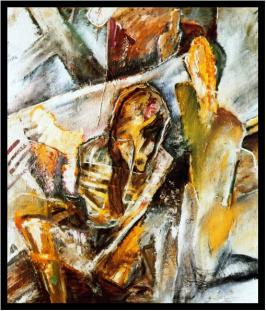 Lebensweg, Öl auf Leinwand, Ernst-Ulrich Jacobi