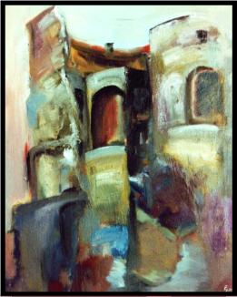 Rom- Kolosseum, ローマコロッセウム, Öl auf Leinwand, Ernst-Ulrich Jacobi