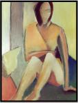 Sitzende, Öl auf Leinwand Ernst-Ulrich Jacobi