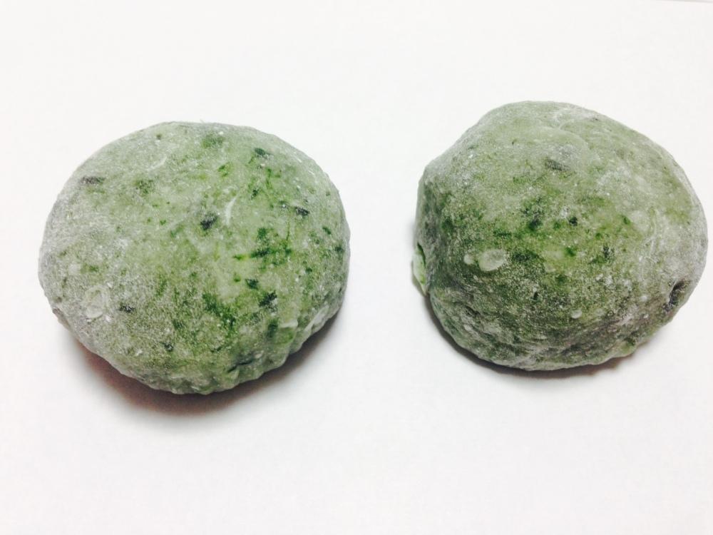 """∗∗∗蓬餅/ Kusamochi oder Yomogi-Mochi  (jap. 蓬餅, dt. """"Grass Mochi""""). (2/6)"""