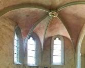 クヴェアフルト砦の中教会にあるサイドチャペルのゴシックアーチ
