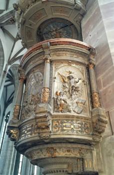 モリツ教会 講壇 (こうだん)1592・1600年ごろに