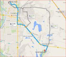 Karte Halle Saale → Dieskauer Park, Entfernung Luftlinie: 8,71 km