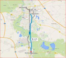 Entfernung Halle → Merseburg Luftlinie: 14,01 km