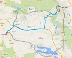 Karte Halle > Querfurt, Entfernung Luftlinie: 27,57 km