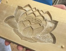 Holzform für Rakugan.