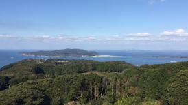 Blick auf die Genkainada-See Die selbe Aussicht hatten auch die Sakimori.