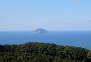 Aussicht der Sakimori von Nokonoshima auf die See