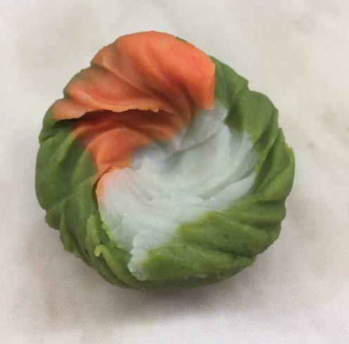 Den Farben des Herbstes nachempfundene fertige Produkt.