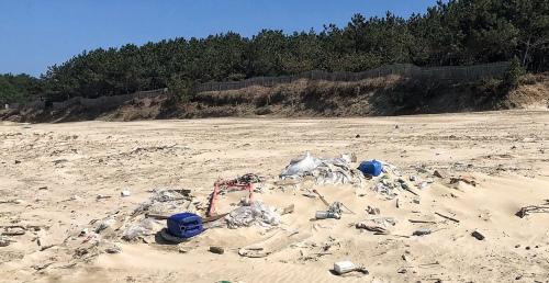 Landfill or sandy Beach